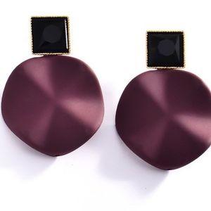 Stud Geometric Red Earrings.